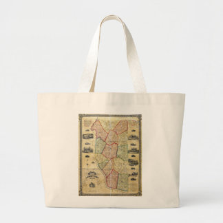 Map of Clermont County Ohio (1857) Large Tote Bag