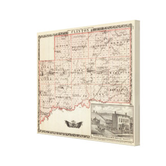 Map of Clinton County Canvas Print