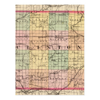Map of Clinton County, Michigan Postcard