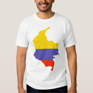 Map of Colombia Tee Shirt
