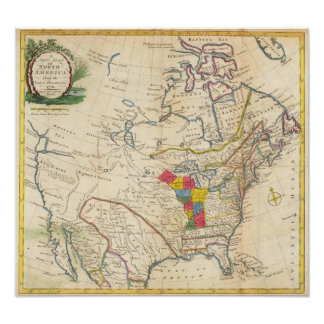 Map of Colonial North America Poster