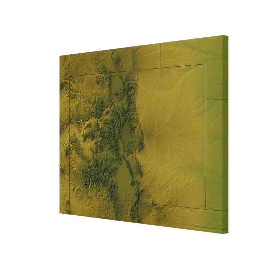 Map of Colorado 2 Canvas Print