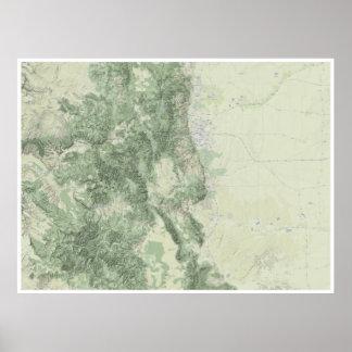 Map of Colorado Poster