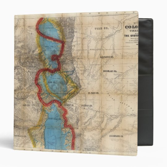 Map of Colorado Territory 3 Ring Binder