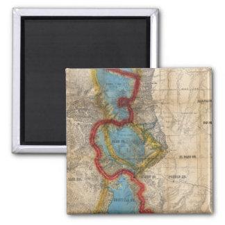 Map of Colorado Territory Magnet
