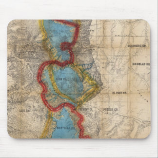 Map of Colorado Territory Mouse Pad