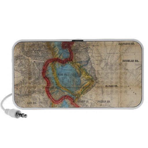 Map of Colorado Territory Notebook Speakers