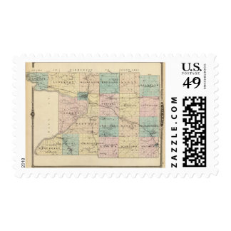 Map of Columbia County, State of Wisconsin Postage