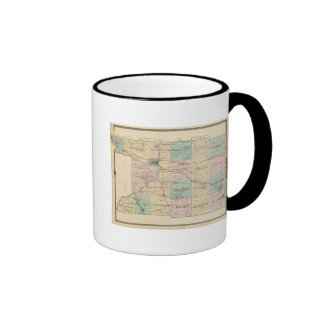 Map of Columbia County, State of Wisconsin Ringer Mug