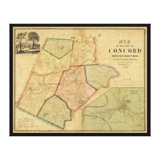 Map of Concord Massachusetts (1852) Canvas Print