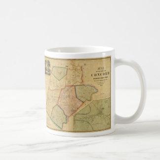 Map of Concord Massachusetts (1852) Coffee Mug