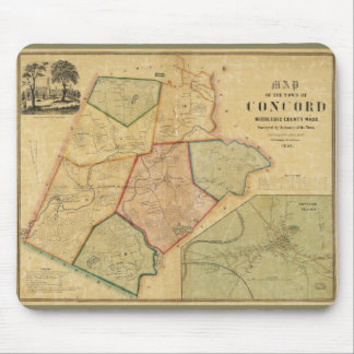 Map of Concord Massachusetts (1852) Mouse Pad