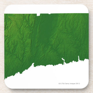 Map of Connecticut 2 Drink Coaster