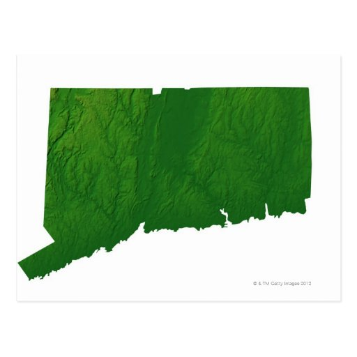 Map of Connecticut 2 Postcards