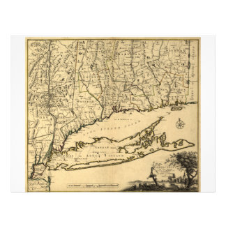 Map of Connecticut and Parts Adjacent (1780) Letterhead