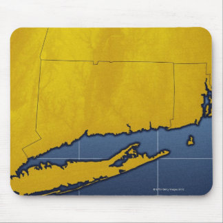 Map of Connecticut Mouse Pad