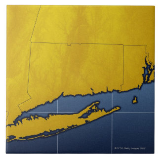 Map of Connecticut Tile
