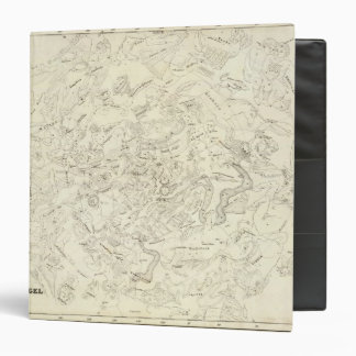 Map of Constellations 2 3 Ring Binder