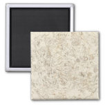 Map of Constellations 2 Inch Square Magnet