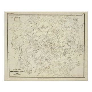 Map of Constellations 2 Posters