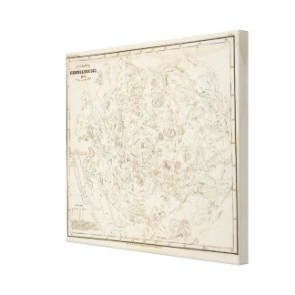 Map of Constellations Canvas Print