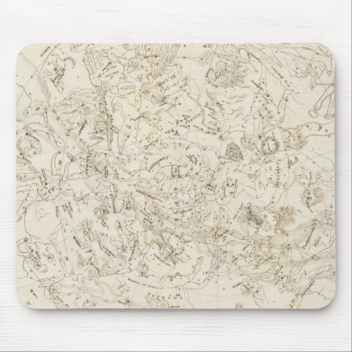 Map of Constellations Mouse Pad