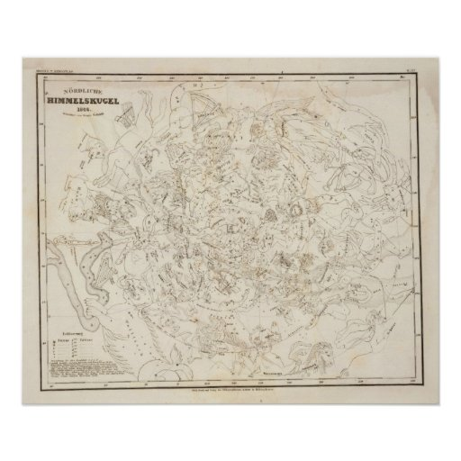 Map of Constellations Print