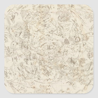 Map of Constellations Square Sticker