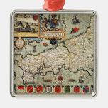 Map of Cornwall Christmas Ornament