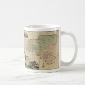 Map of Cornwall Count Jamaica (1763) Coffee Mug