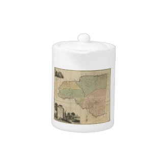 Map of Cornwall Count Jamaica (1763) Teapot