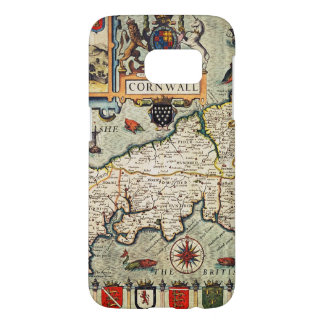 Map of Cornwall Samsung Galaxy S7 Case