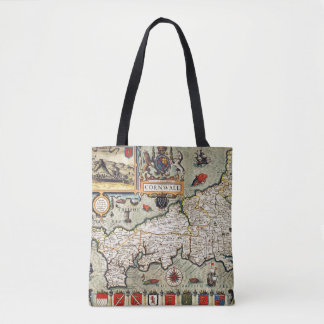 Map of Cornwall Tote Bag