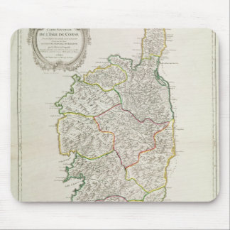 Map of Corsica Mouse Pad