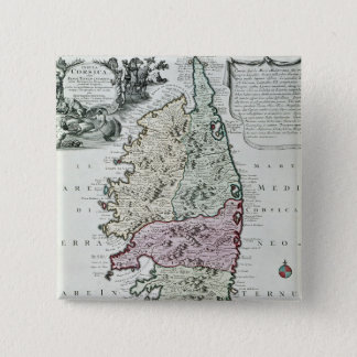 Map of Corsica Pinback Button