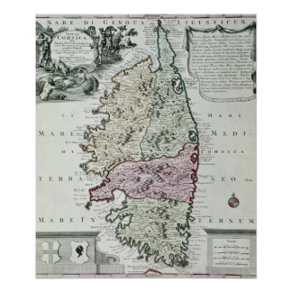 Map of Corsica Poster