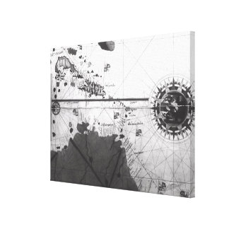 Map of countries canvas print