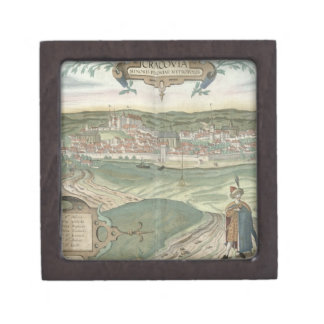 Map of Cracow, from 'Civitates Orbis Terrarum' by Premium Keepsake Boxes