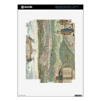 Map of Cracow, from 'Civitates Orbis Terrarum' by Skin For iPad 3