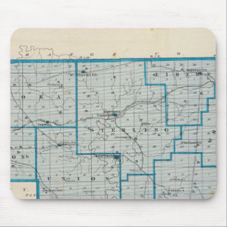 Map of Crawford County Mouse Pad