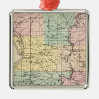 Map of Crawford County, State of Wisconsin Christmas Ornaments