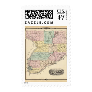 Map of Crawford County, State of Wisconsin Postage