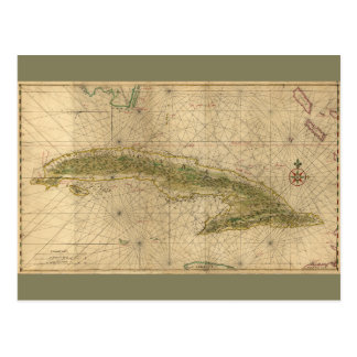 Map of Cuba (1639) Postcard