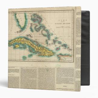 Map Of Cuba And The Bahama Islands Binder