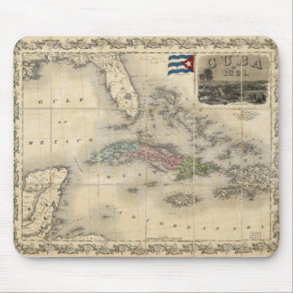 Map of Cuba by J.H. Colton (1851) Mouse Pad