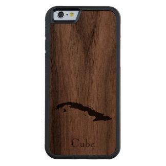 Map of Cuba: Classic Design Carved Walnut iPhone 6 Bumper Case