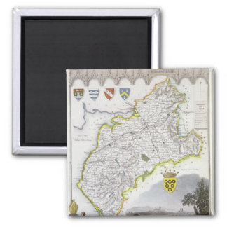 Map of Cumberland, from 'Moule's English 2 Inch Square Magnet