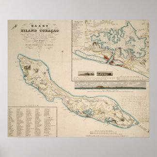 Map of Curaçao 1836 Print