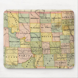 Map of Dakota Mousepad