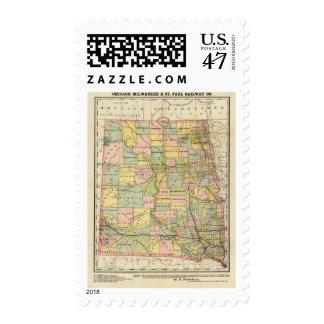 Map of Dakota Postage
